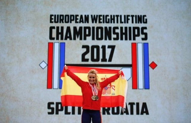 Lydian Valentín, campeona de Europa de halterofilia