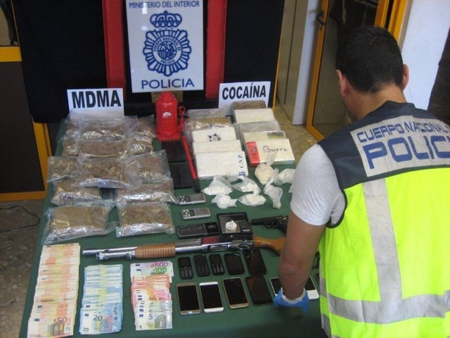 Foto droga incautada en Málaga