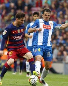 Leo Messi Víctor Sánchez Barcelona Espanyol
