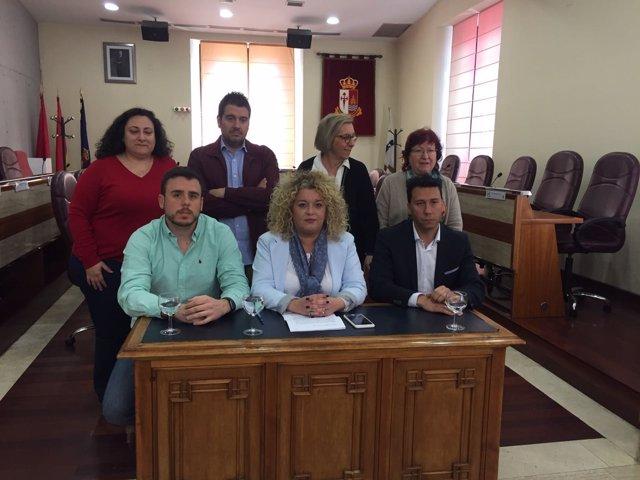 Cristina Moreno y su equipo en el Ayuntamiento de Aranjuez