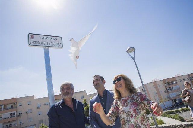 Inauguración de los Jardines Vecino Adolfo Castaño en Almería