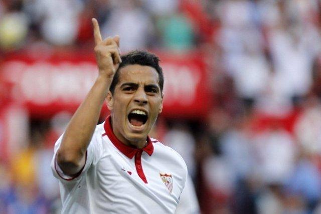 Wissam Ben Yedder celebra un gol con el Sevilla