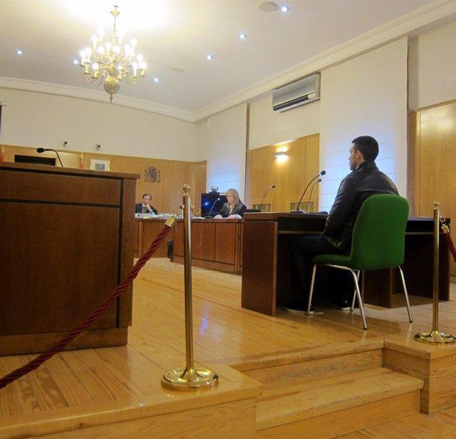 David B.R, durante el juicio en la Audiencia de Valladolid.