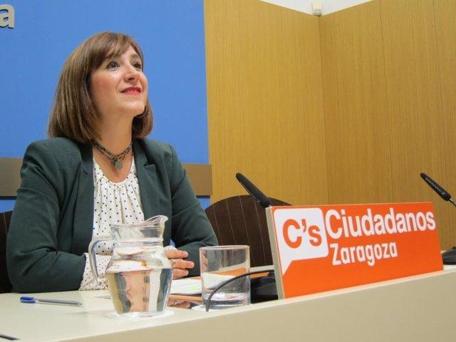 La portavoz del grupo municipal de Ciudadanos, Sara Fernández.