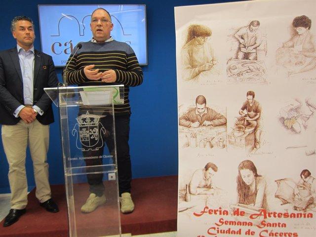 Presentación de la I Feria de Artesanía de Extremadura en Cáceres