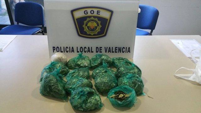Coca intervenida por la Policía