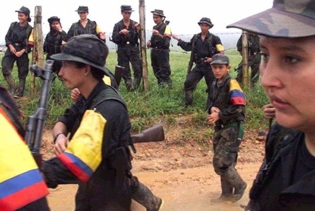 Menores de edad en las FARC