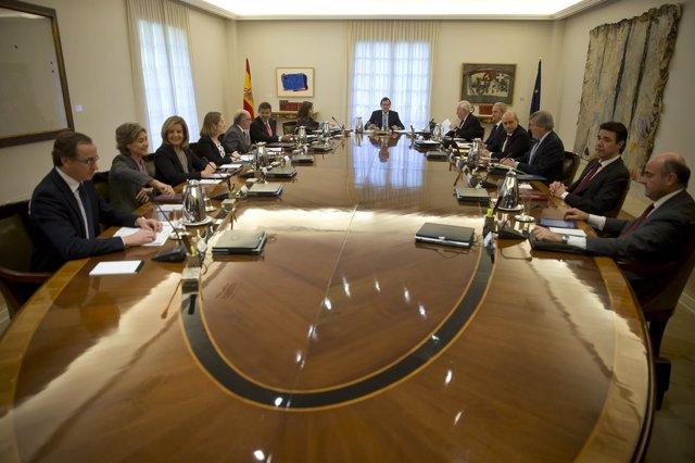 Reunión del Consejo de Ministros presidido por Rajoy