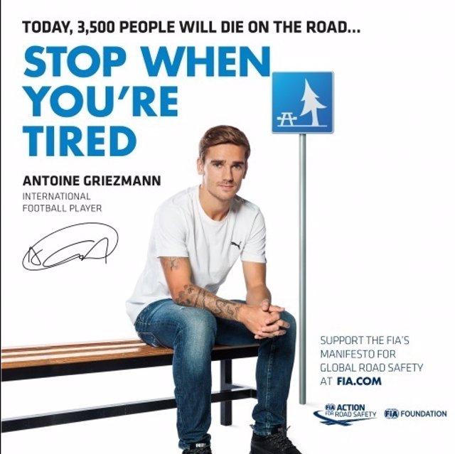 Antoine Griezmann, uno de los embajadores de la campaña #3500LIVES de la FIA