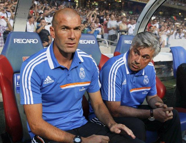 Carlo Ancelotti y Zinedine Zidane