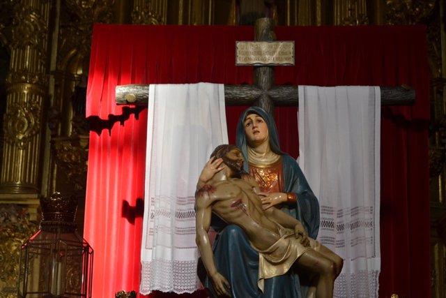 Palencia. La Piedad en la iglesia de San Agustín