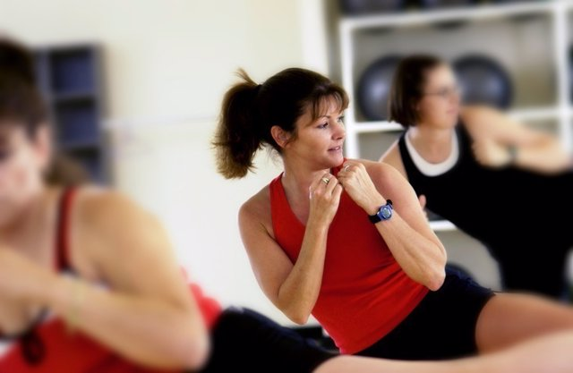Mujer, ejercicio, deporte