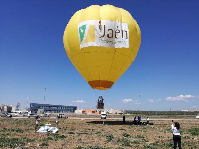 Promoción con globos aerostáticos