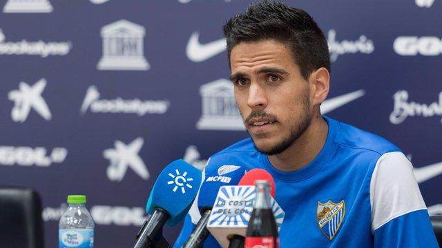 Recio, del Málaga CF, en rueda de prensa