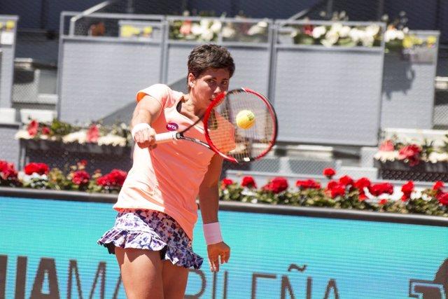 Carla Suárez vs Sabine Lisicki,Mutua Madrid Open 2016
