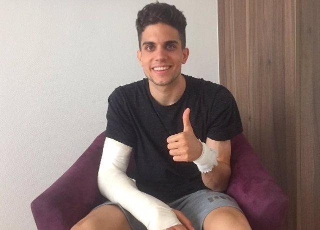 Marc Bartra, tras su operación