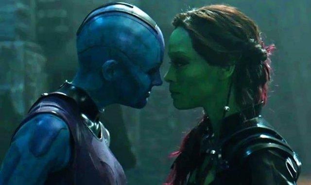 Gamora y Nébula en Guardianes de la Galaxia
