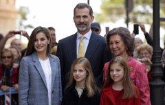 Leonor y Sofía, protagonistas un año más de la Misa de Pascua
