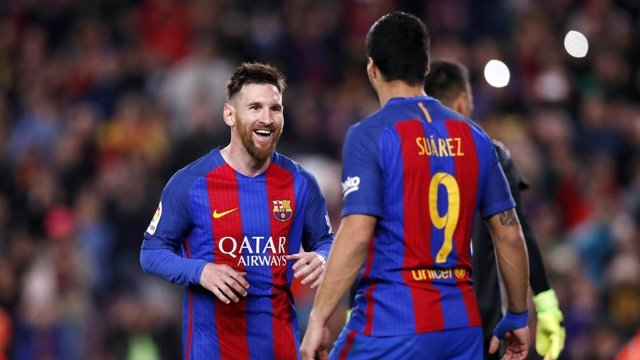 Messi y Luis Suárez (Barcelona)