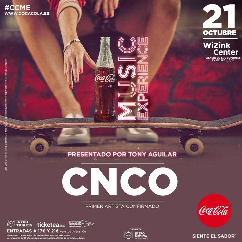 CNCO, primer nombre confirmado para la séptima edición de Coca-Cola Music Experience