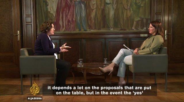 Entrevista de Al Jazeera a Ada Colau