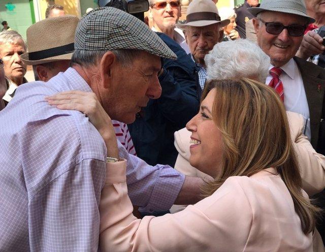 Susana Díaz durante una visita a la localidad granadina de Motril