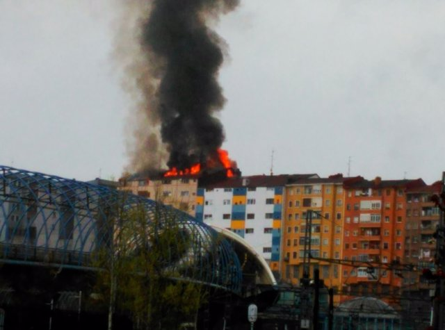 Incendio en Sestao