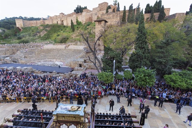 Trono sepulcro málaga turismo alcazaba turistas viajeros teatro romano Santa Sem