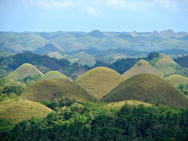 Las Colinas de Chocolate, en Bohol, Filipinas