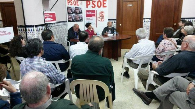 Reunión en Sevilla del equipo de Patxi López