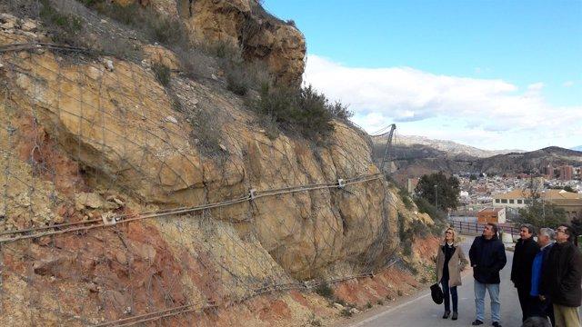 Imagen de archivo de la carretera de acceso al Castillo de Lorca