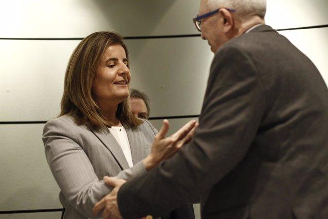Fátima Báñez y José Sánchez Maldonado