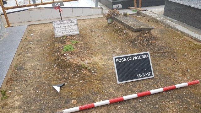 Fosa 82 en el cementerio de Paterna