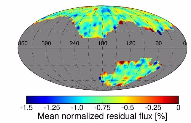 Emisión espectral del gas hidrógeno difuso en la Vía Láctea