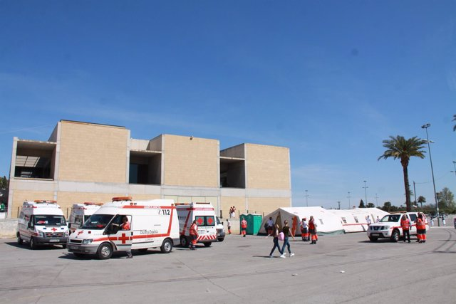 Ambulancias, Cruz Roja, voluntarios, asistencia sanitaria, Bando de la Huerta