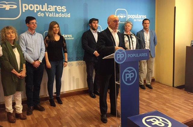 Jesús Julio Carnero presenta su precandidatura a la Presidencia del PP