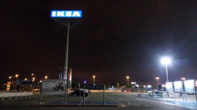 Aparcamiento de Ikea en Murcia