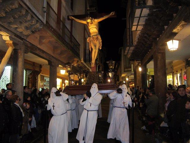 Un Momento De La Semana Santa De Rioseco