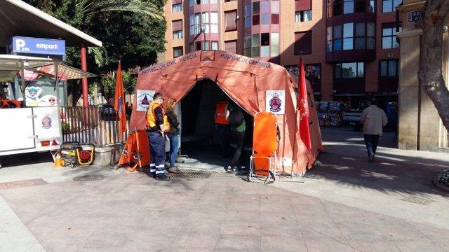 Hospital de campaña, Bando de la Huerta
