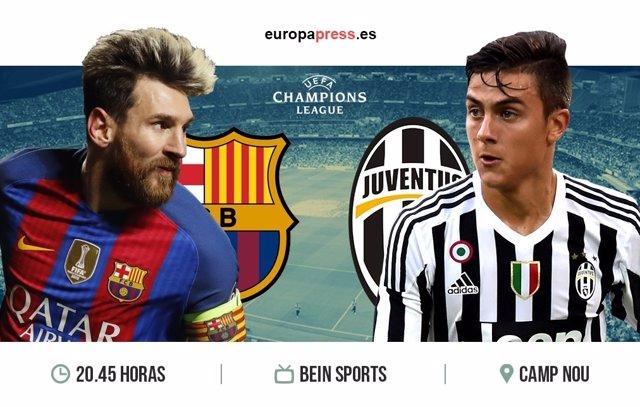 Horario y dónde ver el Barcelona – Juventus | Vuelta  cuartos de final Champions