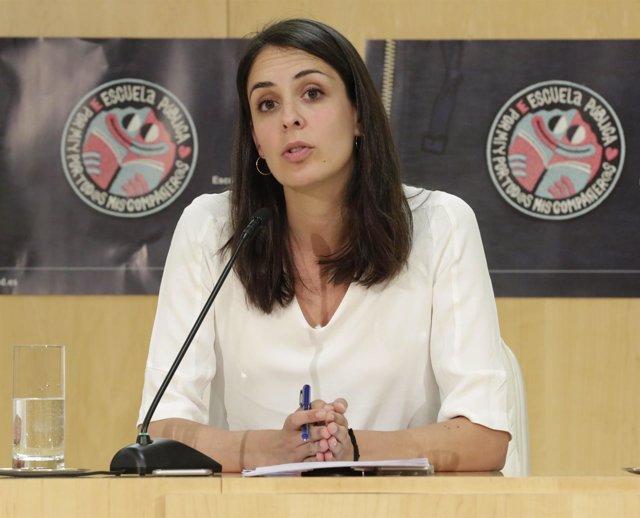 Rita Maestre en rueda de prensa