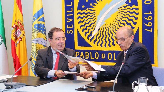 Firma de convenio entre la UPO y la Universidad de Tifariti
