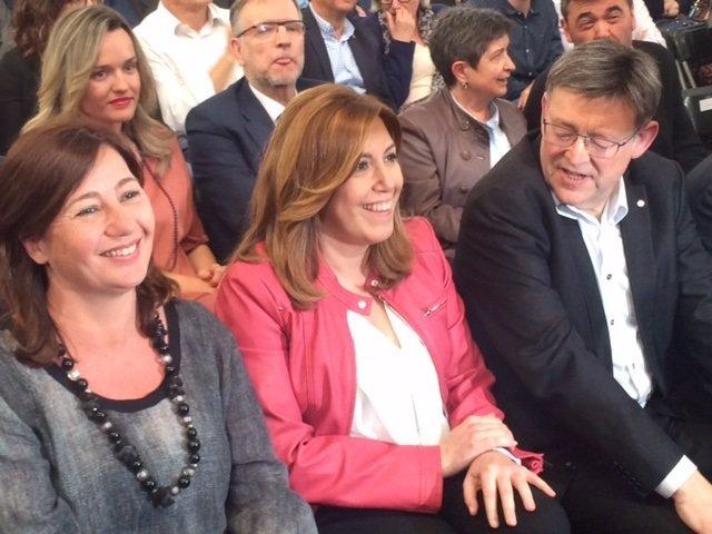 Susana Díaz, Francina Armengol y Ximo Puig