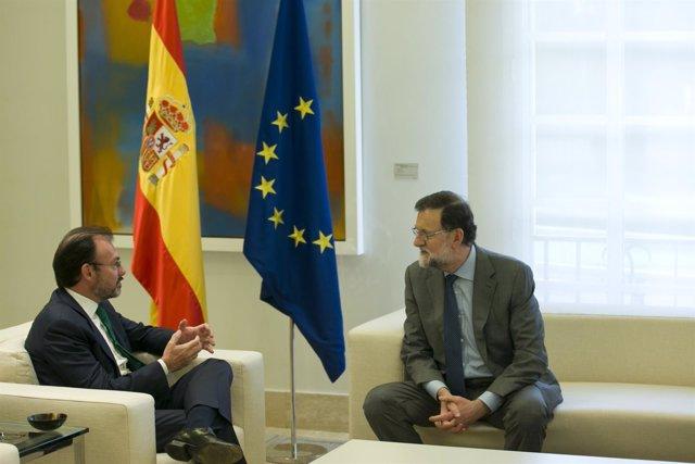 Rajoy, con el secretario de Relaciones Exteriores de México, Luis Videgaray