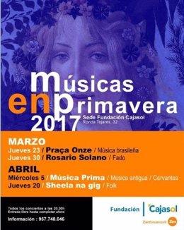 Cartel del ciclo 'Músicas en Primavera'