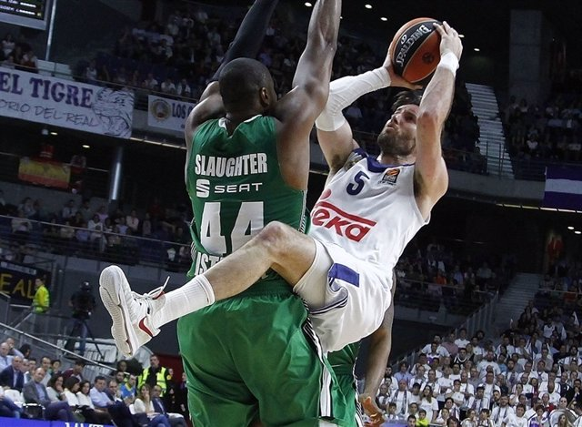 Rudy Fernández y Slaughter en el Real Madrid - Darussafaka
