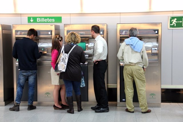 Máquinas expendedoras del Metro de Sevilla