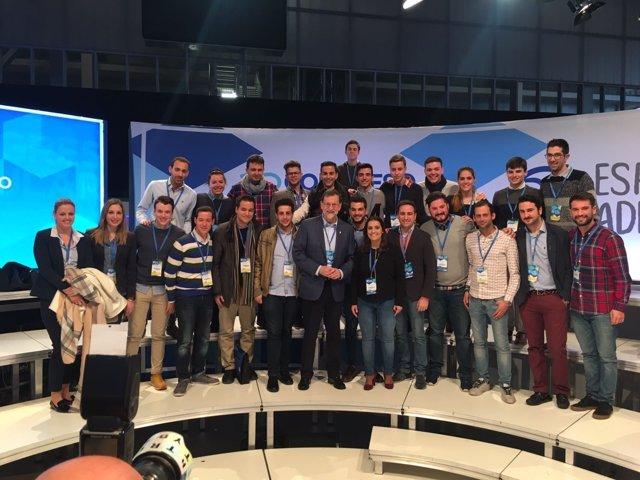 Una veintena de jóvenes del PP balear participarán en el XIV Congreso Nacional de NNGG que inaugura Rajoy