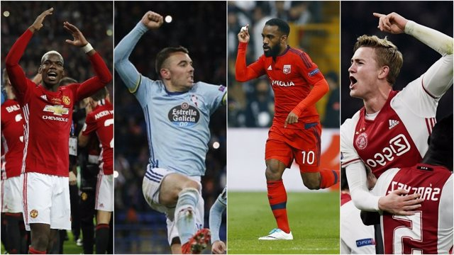 Resultado de imagen para Ajax, Lyon, Manchester United y Celta semis