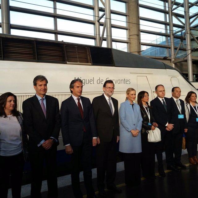 Rajoy en el XXV aniversario del AVE